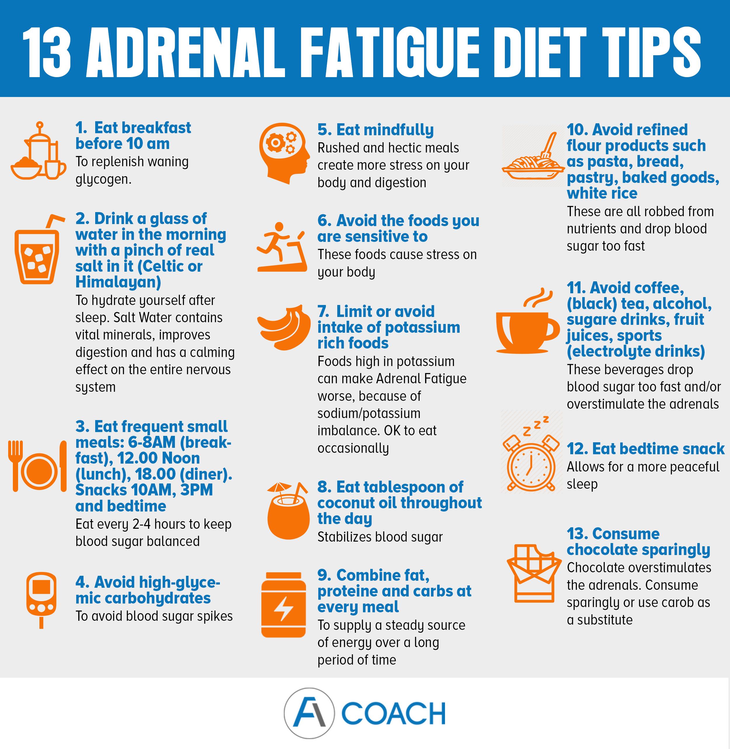 adrenal fatigue diet tips
